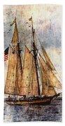 Tall Ships Art Beach Sheet