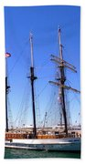 Tall Ships Big Bay Beach Towel