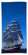 Tall Ships Race In The Ocean, Baie De Beach Towel