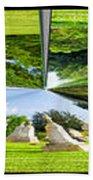 Tall Tombstones Polar View Beach Towel