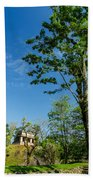 Tall Tree And Temple Beach Towel