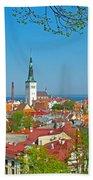 Tallinn From Plaza In Upper Old Town-estonia Beach Towel