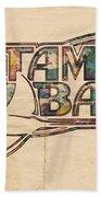 Tampa Bay Rays Poster Art Beach Towel