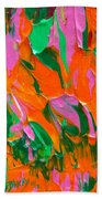 Tangerine And Lime Beach Towel by Donna Blackhall