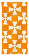 Tangerine Twirl Beach Towel by Linda Woods