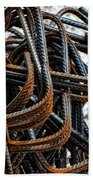 Tangled - Industrial Photography By Sharon Cummings Beach Towel