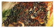 Tangled Lion Beach Towel