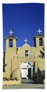 Taos Adobe Church Beach Towel