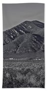 Taos In Black And White II Beach Towel