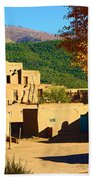 Taos Pueblo South In Autumn Beach Towel