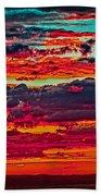 Taos Sunset Xix Beach Towel