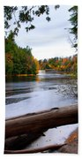 Taquamenon River And Lower Falls  Beach Towel