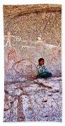 Tarahumara Boy In Painted Cave Near Chihuahua-mexico Beach Towel