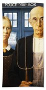 Tardis V Grant Wood Beach Towel