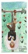 Tarot 12 The Hanged Man Beach Towel