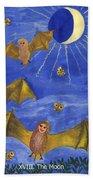 Tarot 18 The Moon Beach Towel