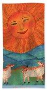 Tarot 19 The Sun Beach Towel