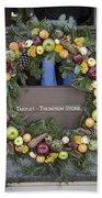 Tarpley Thompson Store Wreath Beach Towel