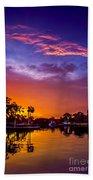 Tarpon Springs Glow Beach Towel
