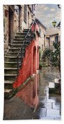 Tarquinian Red Stairs Beach Towel