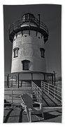 Tarrytown Lighthouse Bw Beach Towel
