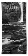 Taughannock Black And White Beach Towel