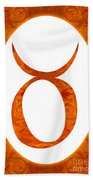 Taurus And Sacral Chakra  Abstract Spiritual Artwork By Omaste W Beach Towel