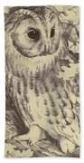 Tawny Owl Beach Towel
