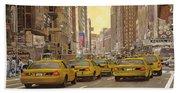 taxi a New York Beach Towel