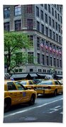Taxicabs Of New York City Beach Towel
