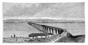 Tay Rail Bridge, 1879 Beach Towel