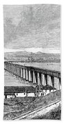 Tay Rail Bridge, 1879 Beach Towel