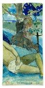 Te Arii Vahine .the Queen Of Beauty Or The Noble Queen. Beach Towel