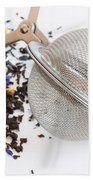 Tea Ball Infuser And Scented Tea Beach Towel