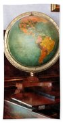 Teacher - Globe On Piano Beach Towel