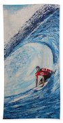 Teahupoo Wave Surfing Beach Towel