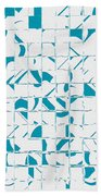 Teal Glyphs  Beach Towel