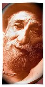 Ted Degrazia Portrait By Henry Redl Circa 1980-2013 Beach Towel