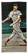 Ted Williams Painting Beach Towel
