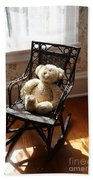 Teddy In Old Fashioned Rocker Beach Towel
