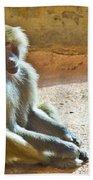 Teen Baboon Beach Towel