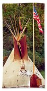 Teepee Beach Towel by Marty Koch