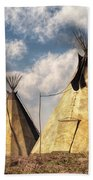 Teepees Beach Towel by Daniel Eskridge