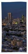 Tel Aviv At The Twilight Magic Hour Beach Sheet