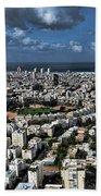 Tel Aviv Center Beach Towel by Ron Shoshani