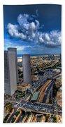 Tel Aviv Center Skyline Beach Sheet