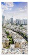 Tel Aviv Israel Elevated View Beach Towel