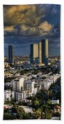 Tel Aviv Skyline Fascination Beach Towel