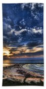 Tel Aviv Sunset At Hilton Beach Beach Towel