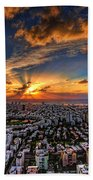 Tel Aviv Sunset Time Beach Sheet